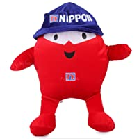 Funny Teddy Cartoon Character Nippon Blobby Doll Soft Stuffed Toy | Doll Toy for Kids | Birthday Gift (Cherry Red)