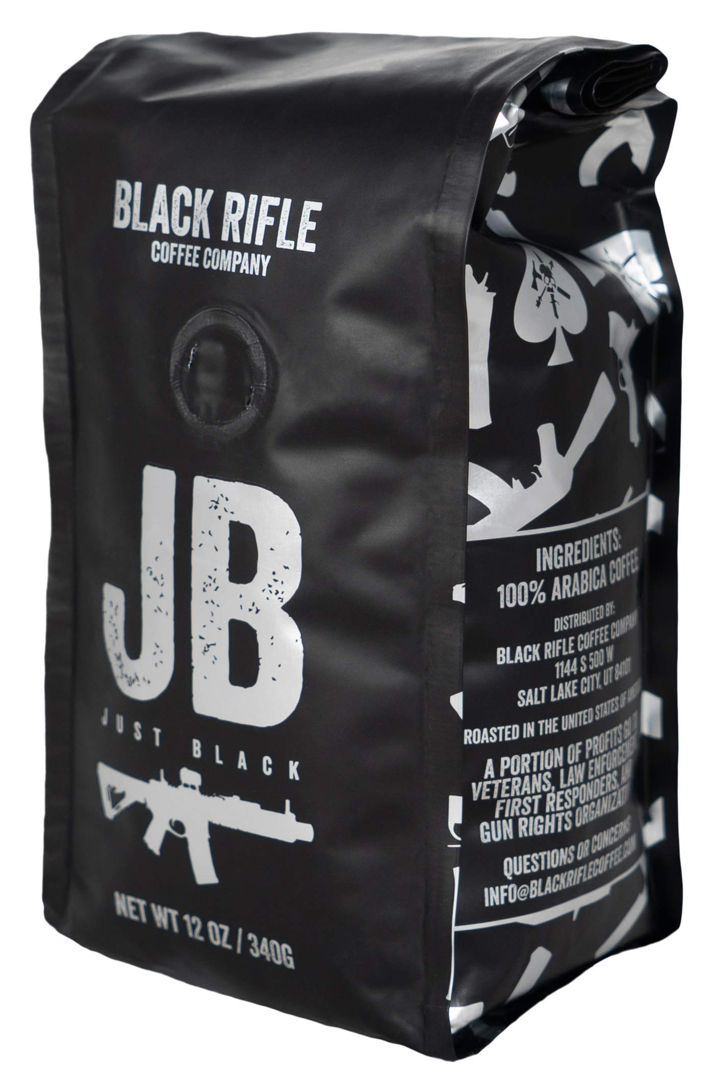 Black Rifle Coffee Company JB Just Black Dark Roast Ground Coffee, 12 Ounce Bag by Black Rifle Coffee Company