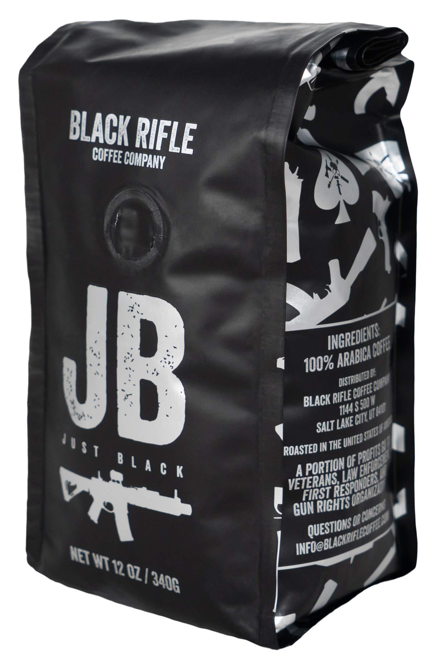 Black Rifle Coffee Company Just Black Coffee, Dark Roast, Ground, 12 Ounce Bag