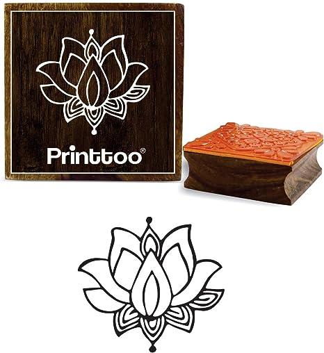 flower design wooden stamp stamp