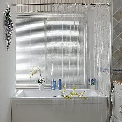 Eforgift Cortina De Ducha Con Cubeta 3d Resistente Al Agua Sin Moho Para Baño Moderno Transparente 72wx78l 1