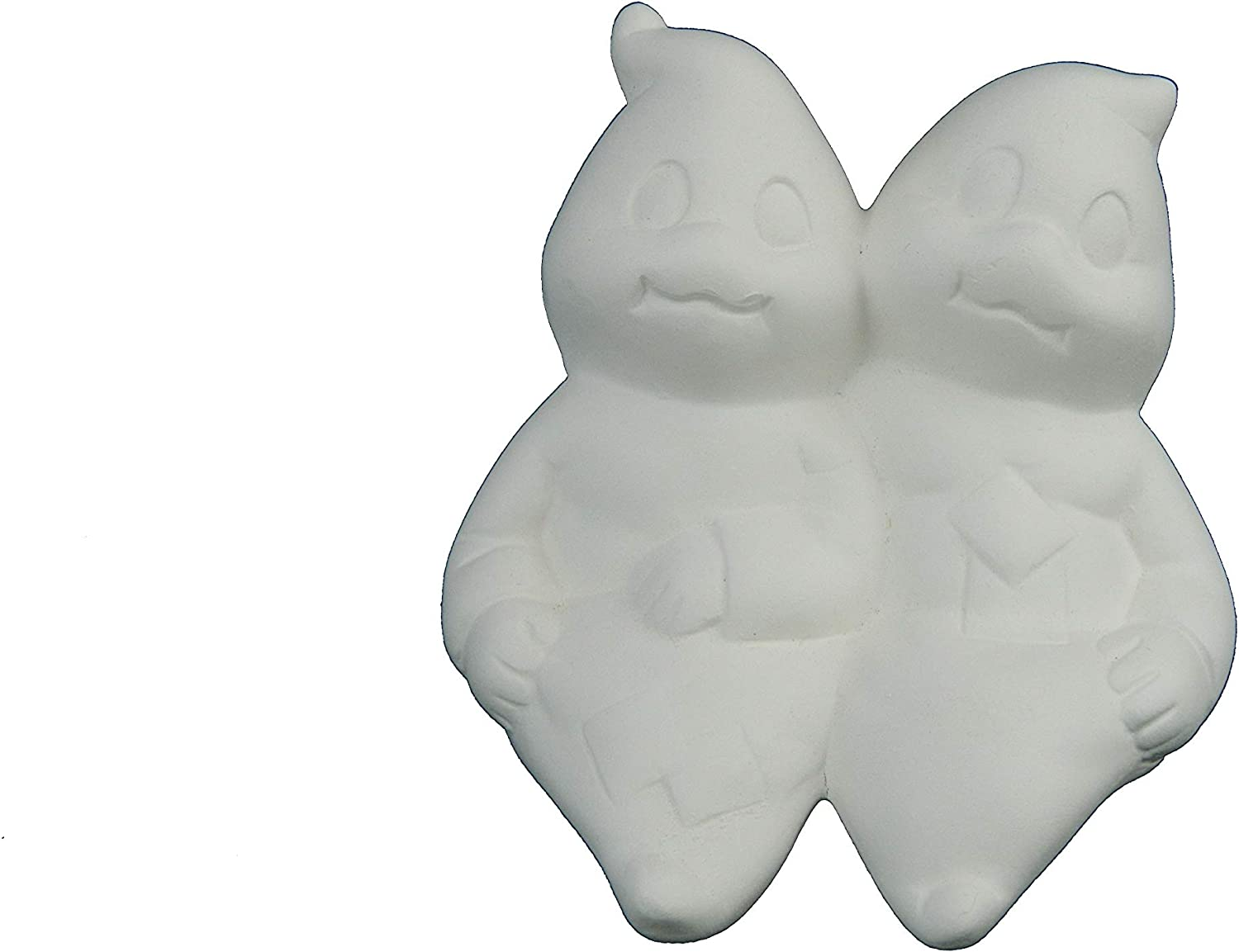 Sitting Ghost Couple by Donas Unpainted Halloween Ceramic Bisque Ghosts
