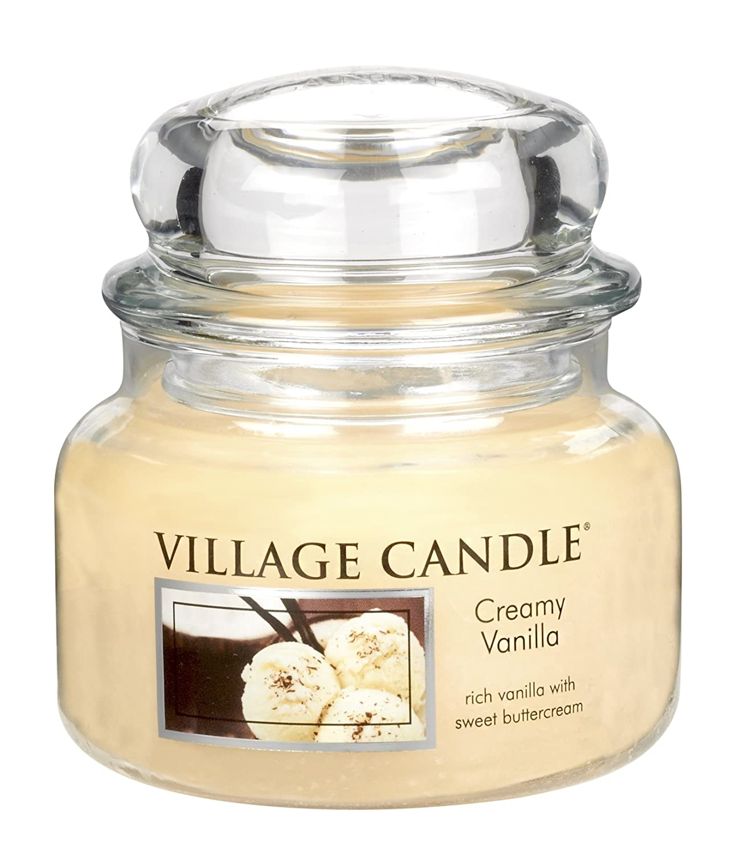 Village Candle 106311302 Creamy Vanilla Pot de verre Jaune 10, 3 x 10, 1 x 10, 6 cm 106011302