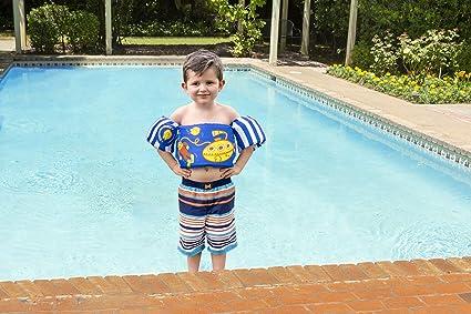 Poolmaster Learn-To-Swim Lil\' Splashers Swimming Pool Float Training Aid,  Vest/Arm Float, Aqua