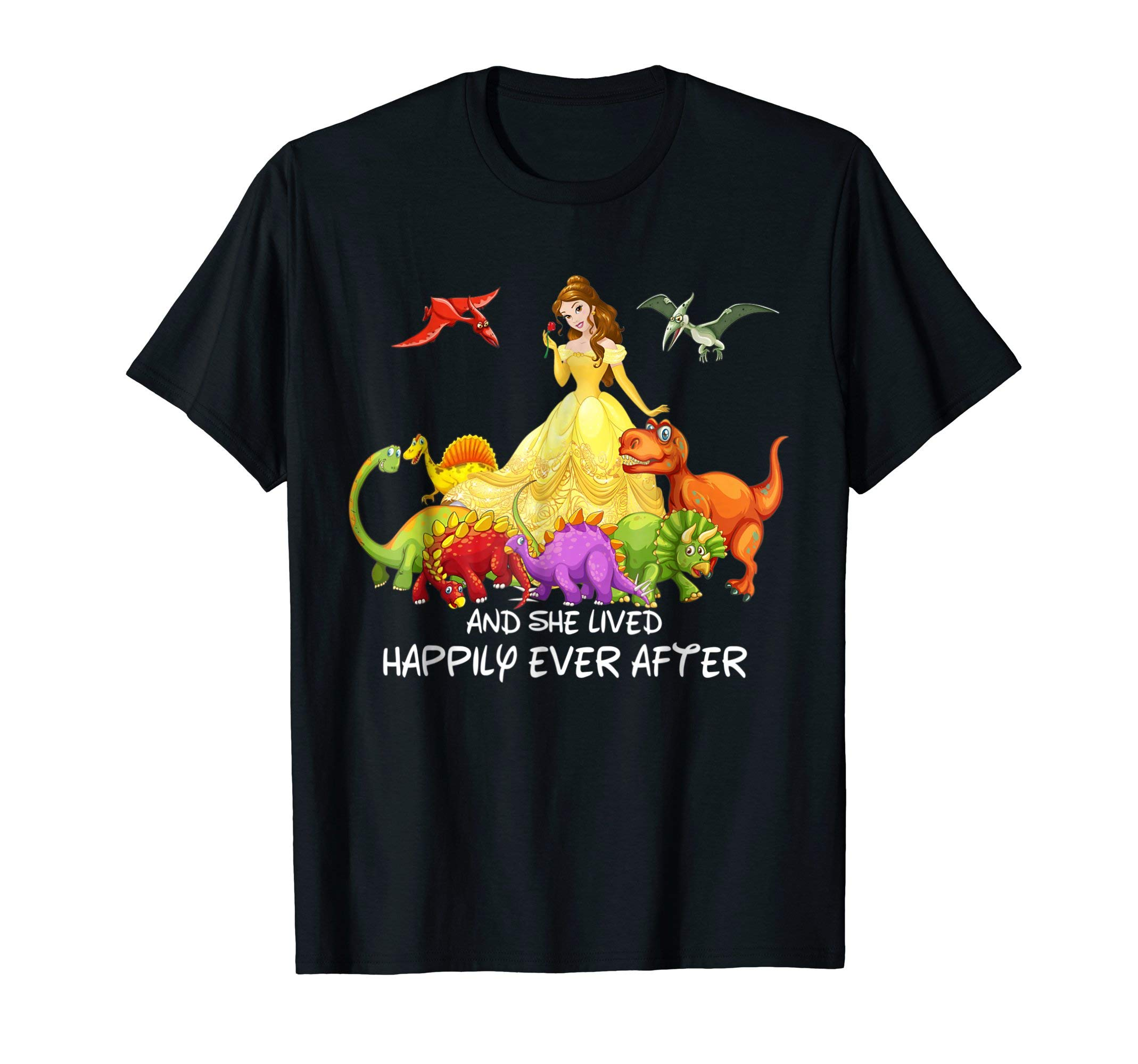 And She Lived Happily ever After Dinosaur T-Shirt