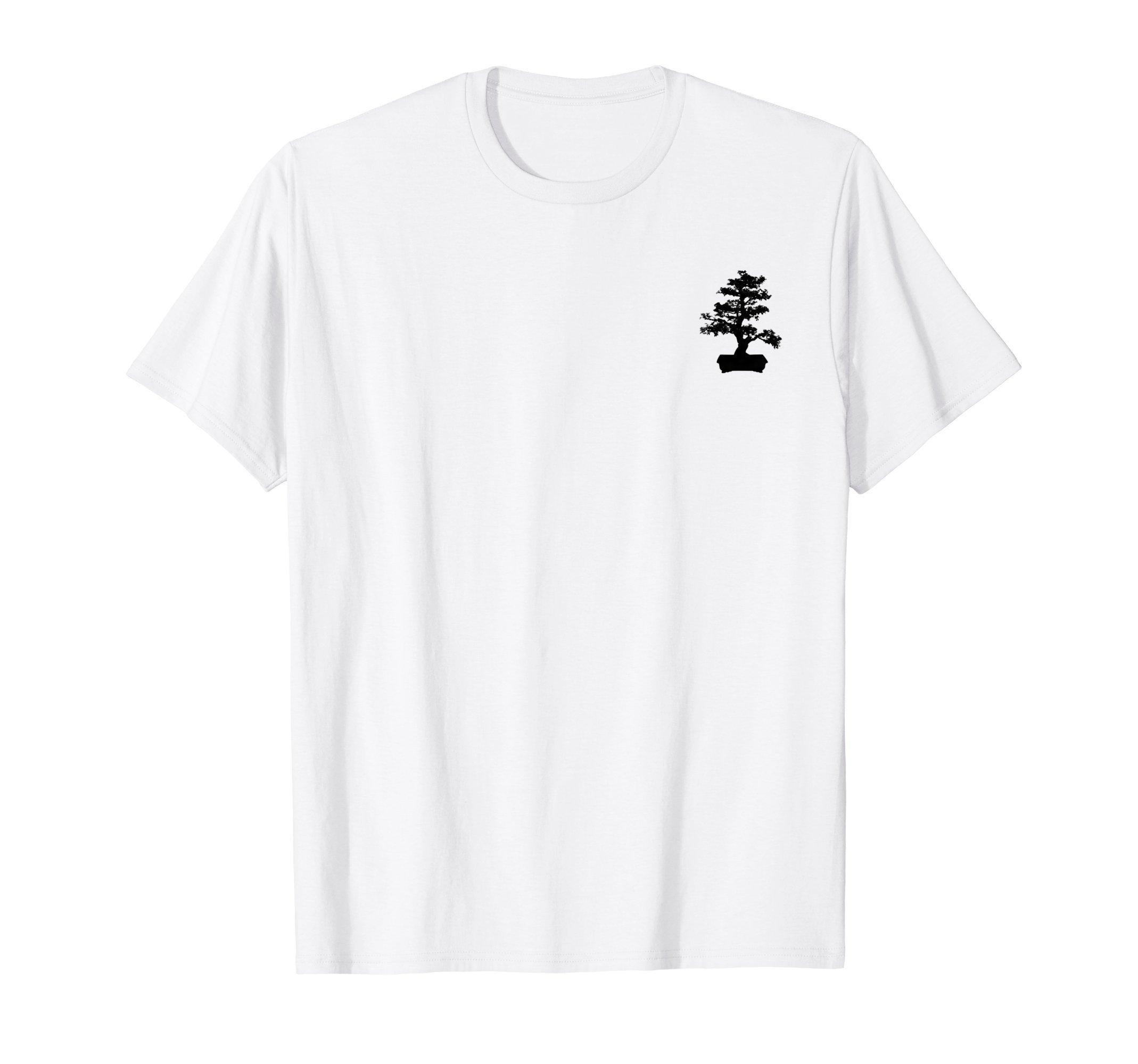 Bonsai Tree silhouette small chest logo by Plant life Tshirts