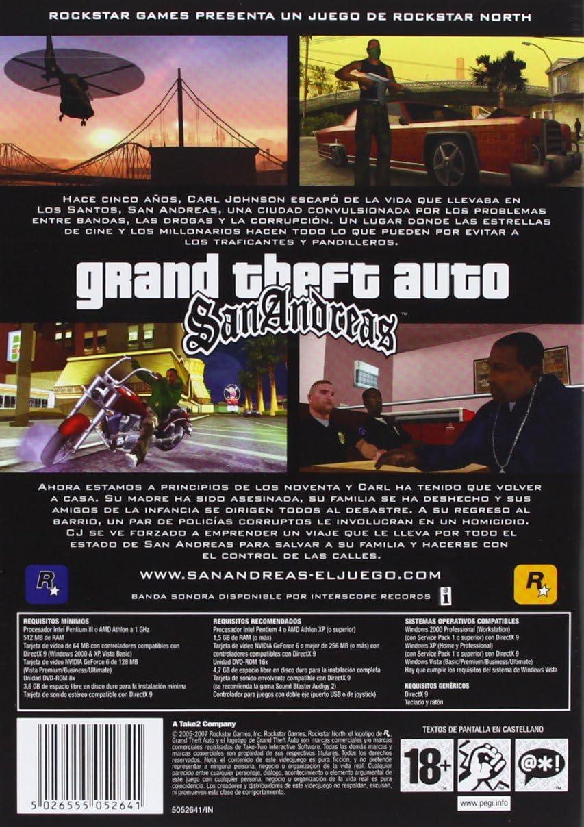 Grand Theft Auto: San Andreas: Amazon.es: Videojuegos