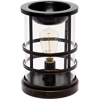 Mindful Design Edison Bulb Wax Warmer - Freshener Wax Melter (Oil Rubbed Bronze)