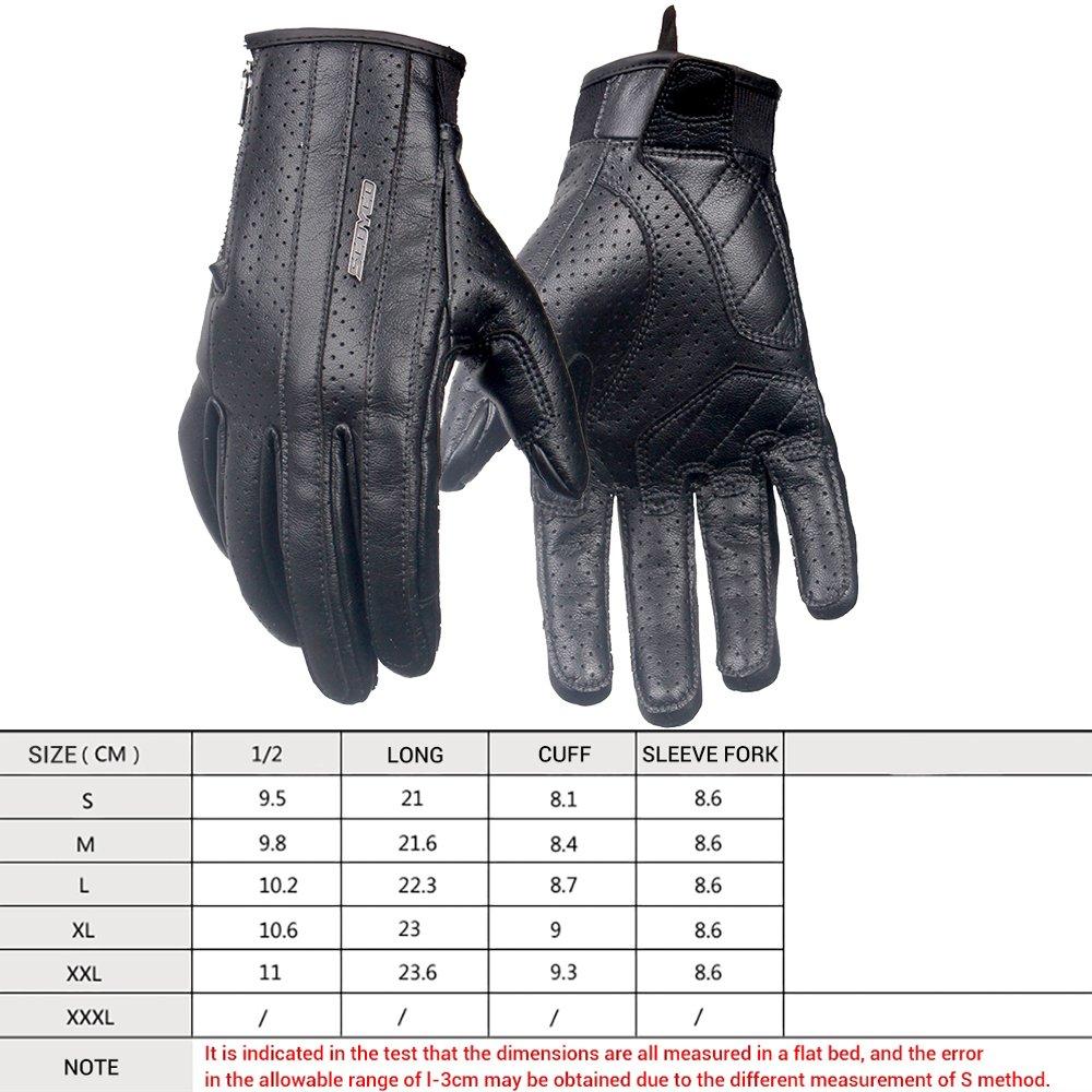 /Ét/é Respirant Complet Doigt R/étro Design Moto Gants Microfibre En Cuir /Écran Tactile Motocross Gants De Protection avec QUALIT/É GARANTIE