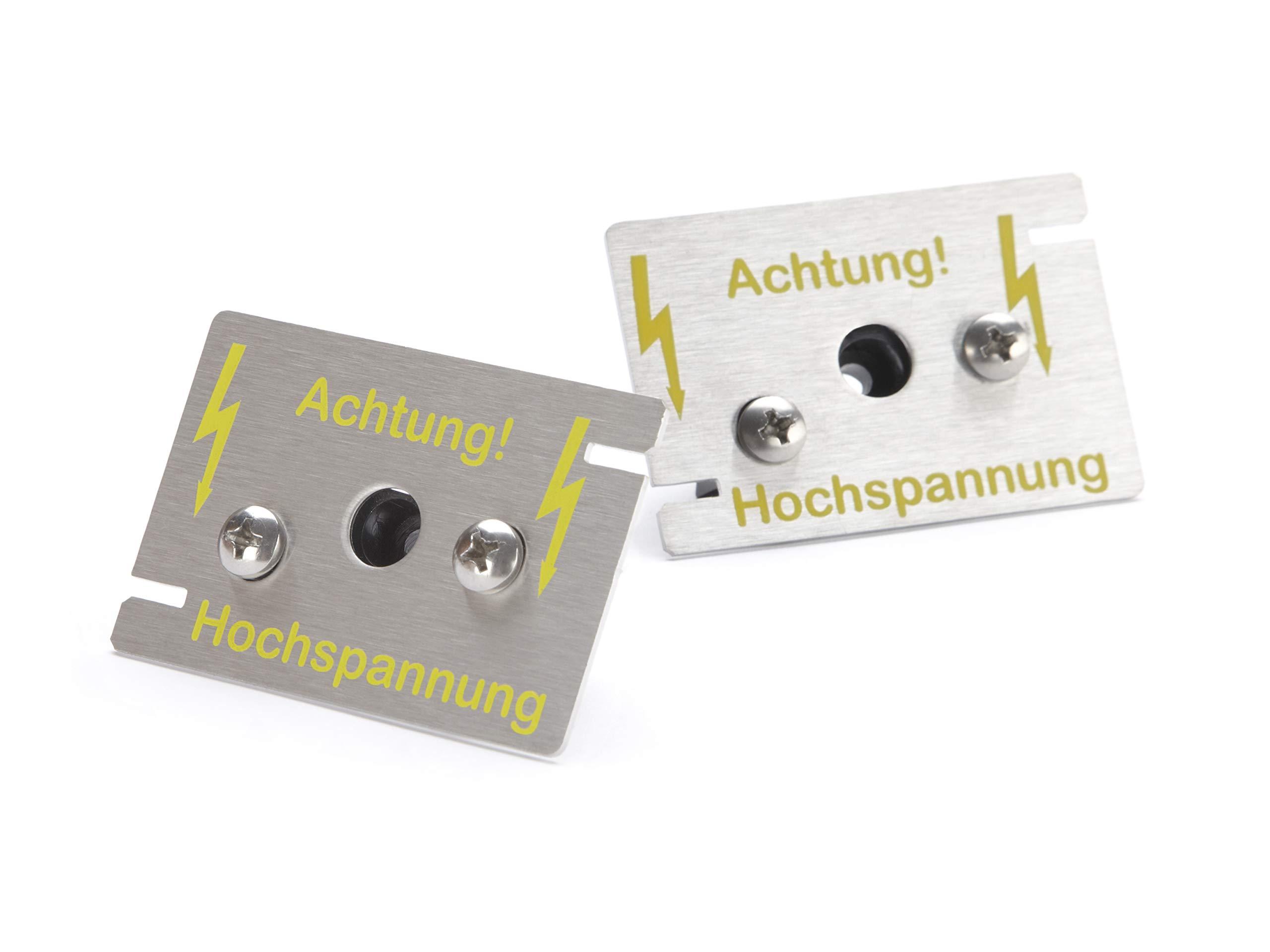 Hochspannungsplatten-Sensoren aus säurebeständigem V4 Edelstahl zur Erweiterung des Marderschutz-Systems Mardersicher 12V Mobil und MS Active product image