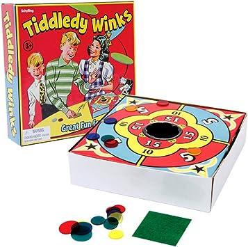 Vintage victoriana Tiddleywinks Tiddlywinks Voltear Juego de mesa - En Caja: Amazon.es: Juguetes y juegos