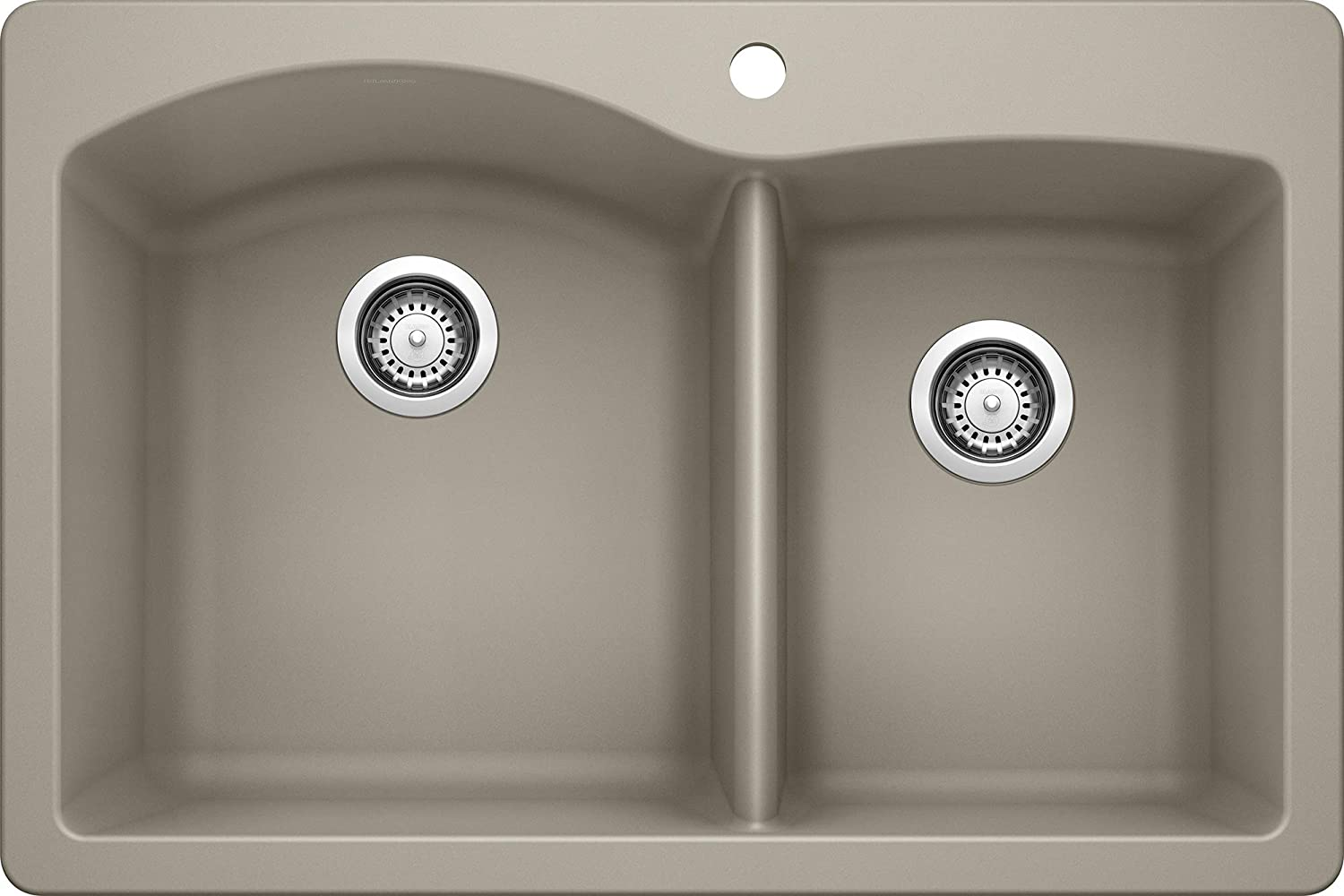 Blanco 441283 Diamond 1-3 4 Bowl Silgranit II Sink, Truffle