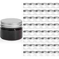 ComSaf Mason Jars with Airtight Metal Regular Lids(5oz/150ml), Sealed Clear Glass Canning Jars with Wide Mouth for…
