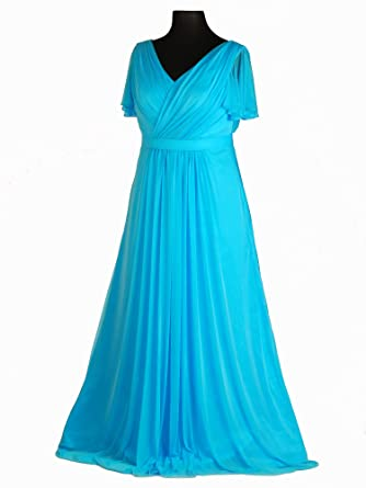 Abendkleid turkis 48