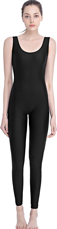 Speerise Women Lycra Spandex Nylon Tank Dance Unitard Bodysuit White XXL