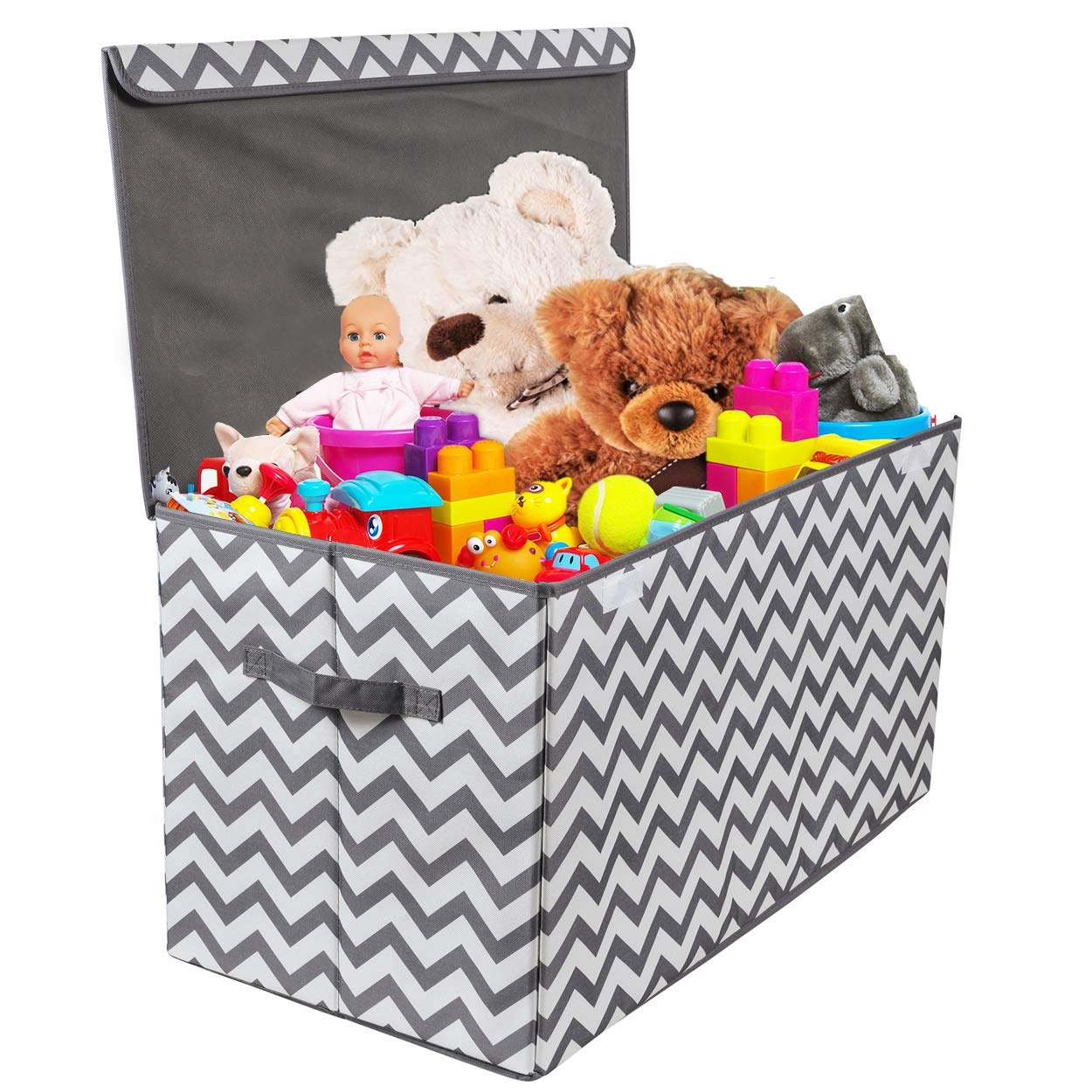 Nursery - Extra Large Collapsible Toys Bin with Flip-top lid for Children /& Dog Toys Great Box for Boys and Girls Closet etc Woffit Toy Storage Organizer Chest for Kids /& Living Room Playroom