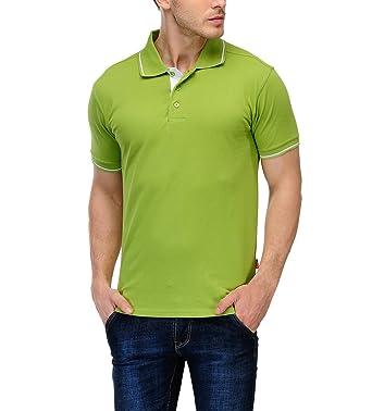66585779 Scott International Men's Solid Regular fit Polo (AW18-SP15-S_Apple  Green_Small)