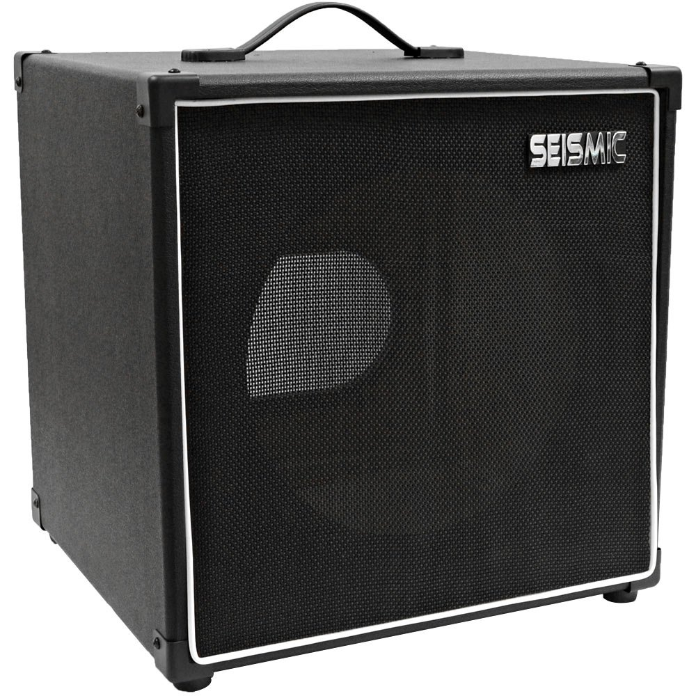 Seismic Audio - 1x12 GUITAR SPEAKER CAB EMPTY - 7 Ply Birch - 12'' Cube Cabinet - Black Tolex, Black Removable Cloth Grill - Front loading Speakerless Cabinet by Seismic Audio
