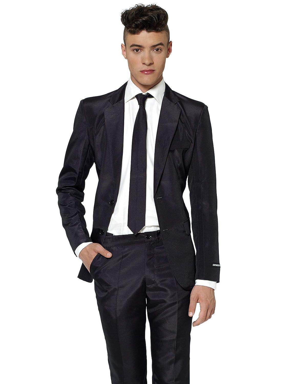 Black-Solid-Suitmeister Herrenanzug schwarz M Mr Generique