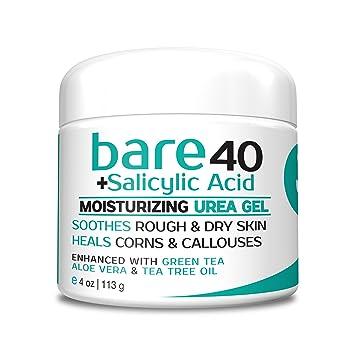 Bare Urea 40% Percent Plus Salicylic Acid Cream for Hands, Feet, Elbows and  Knees - Corn & Callus