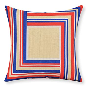 Amazon.com: Almohada de algodón estilo británico/Simple sofá ...