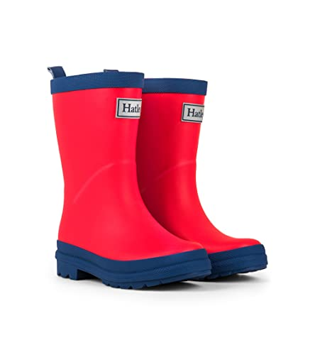 Hatley Mädchen Classic Rain Boots Arbeits-Gummistiefel, Red (Red/Navy), 23 EU
