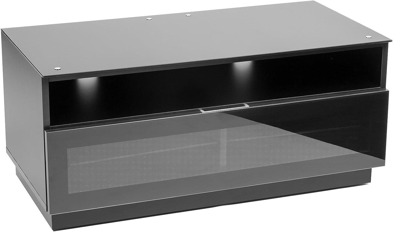 MMT D1000 - Mueble TV Negro Brillante con Cristal IR amigable ...