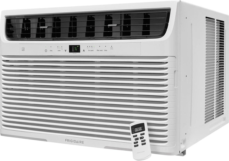 FRIGIDAIRE 22,000 Btu 230V Window-Mounted Heavy-Duty with Temperature Sensing Remote Control Air Conditioner, White