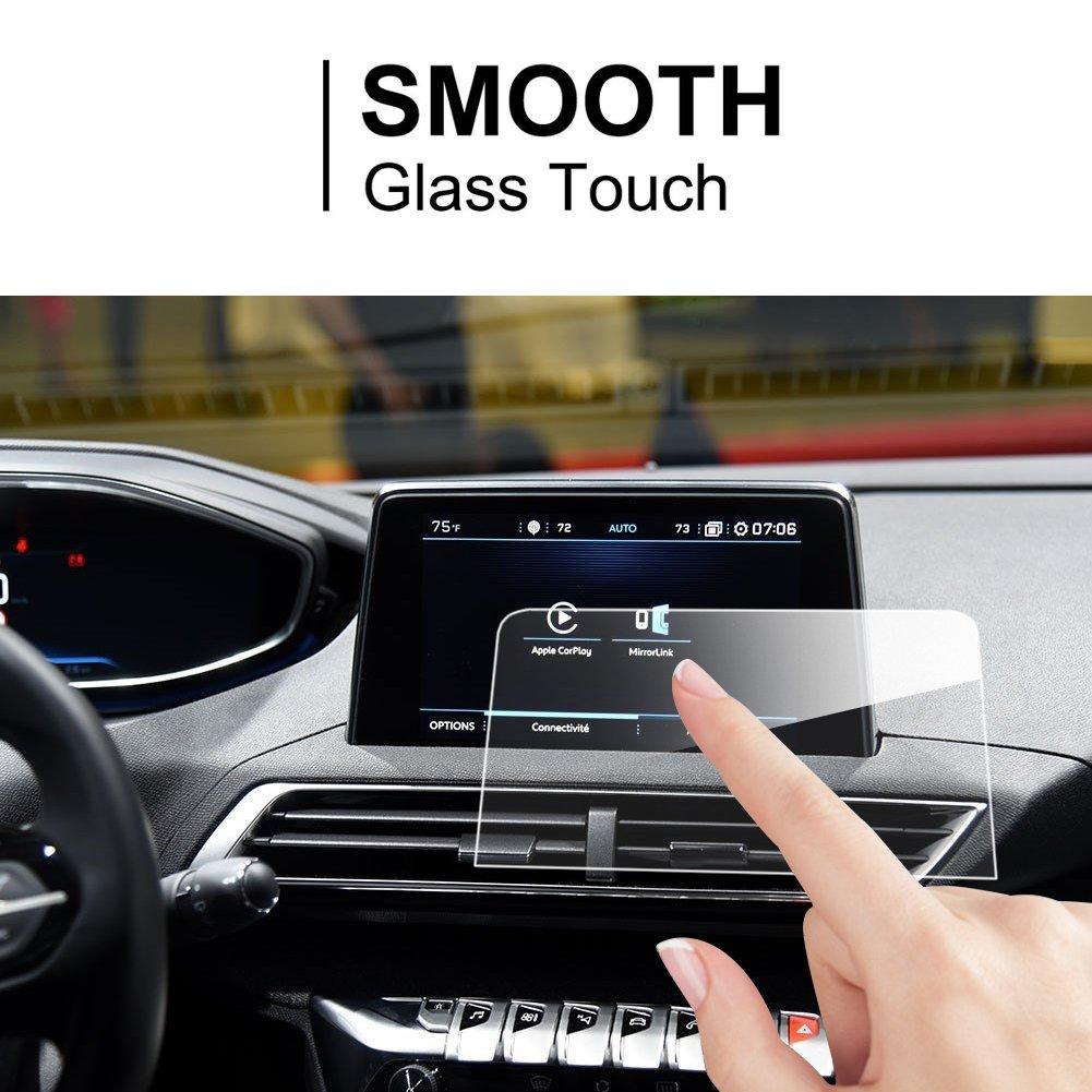 LFOTPP Peugeot 3008 5008 GT 8 pulgadas Navegación Protector de pantalla - 9H Cristal Vidrio Templado GPS Navi película protegida Glass: Amazon.es: Coche y ...