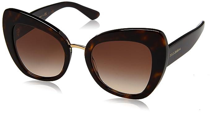 0c7e315036fce2 Dolce   Gabbana 0DG4319 502 13 51, Montures de Lunettes Femme, Marron  (Havana Browngradient)  Amazon.fr  Vêtements et accessoires