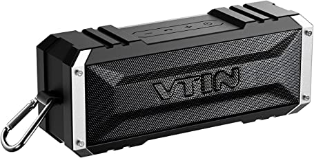 Vtin 20W Altavoz Bocina Bluetooth Inalámbrico, Sonido Estéreo, Premium Dual-Drivers, Radiador Pasivo, Conexión AUX – color Negro