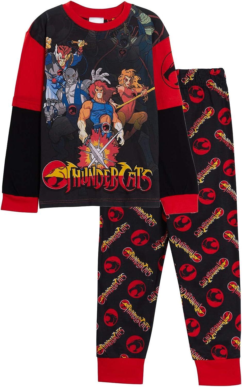 Thundercats Pijama de longitud completa para niños, retro, clásico, Super Hero 2 piezas