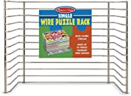 "Melissa & Doug Wire Puzzle Storage Rack (Arts & Crafts, Sturdy Metal Construction, Pre-Assembled, Peg Puzzle Storage, 8.5"" H"