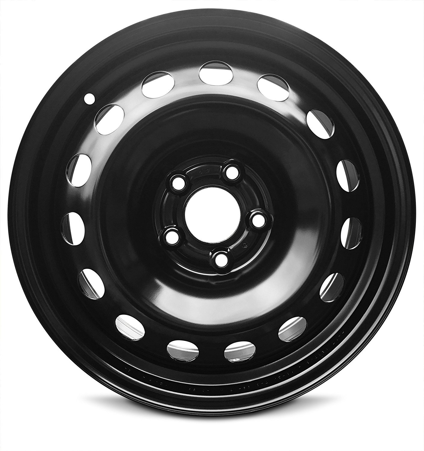 Road Ready Car Wheel For 2015-2019 Jeep Renegade 16 Inch 5 Lug Black Steel Rim Fits R17 Tire - Exact OEM Replacement - Full-Size Spare