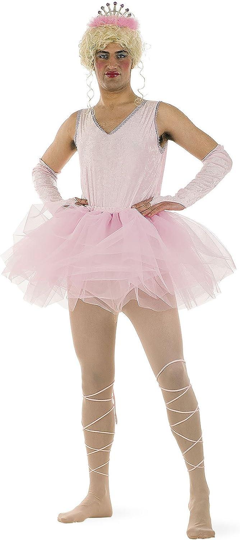 Costume da ballerina rosa Limit Sport MA487 5 pezzi, tut/ù, calze, fascia, body e diadema