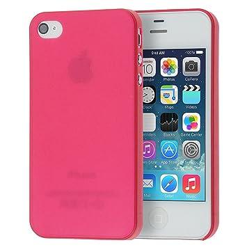 doupi UltraSlim Funda para iPhone 4 4S, Finamente Estera Ligero Estuche Protección, rojo