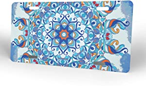 FeHuew Mandala Floral License Plate Front Car Decorative Novelty Auto Plate Tag Vanity Metal Aluminum 12x6 inch Home Wall Decor