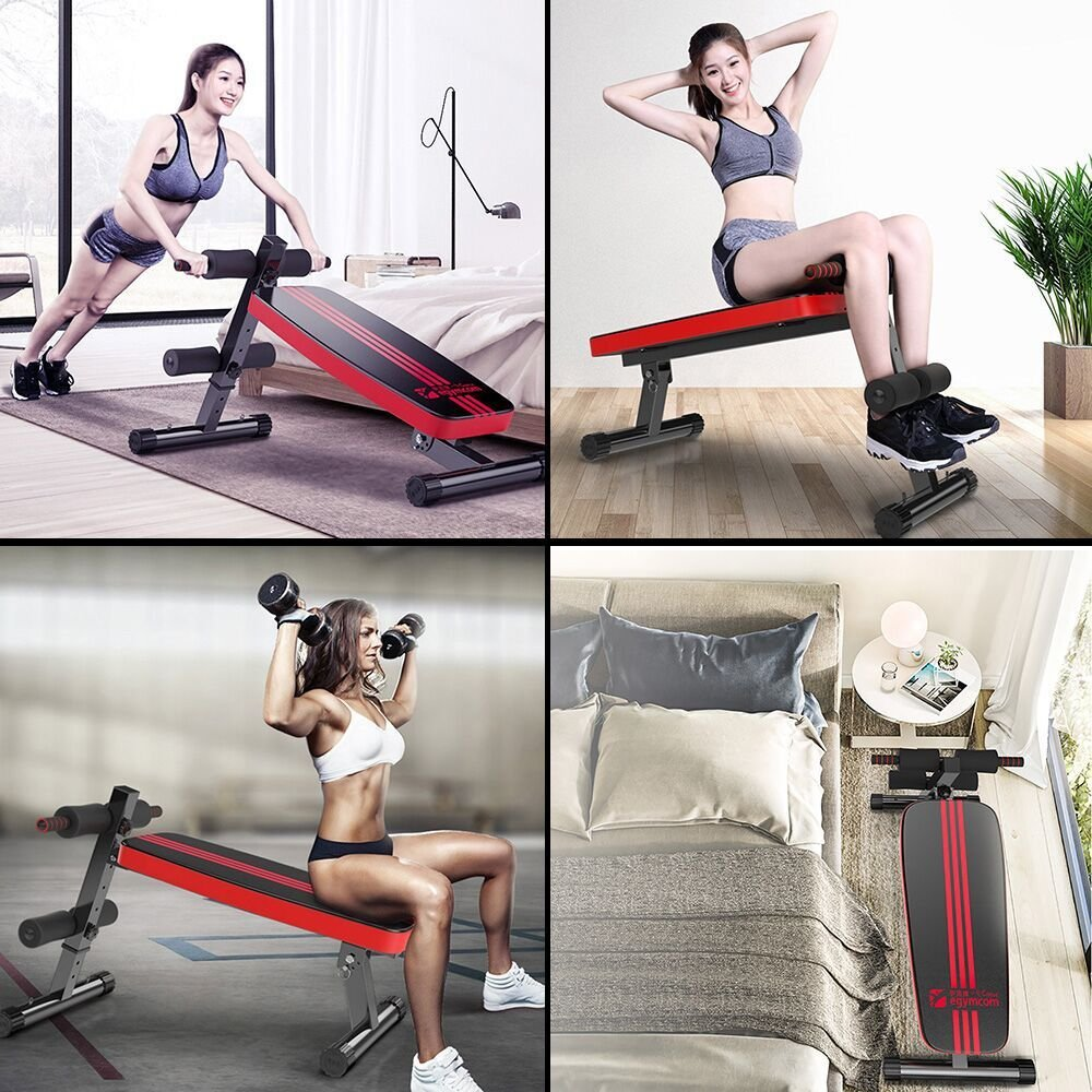 Banco de Abdominales Ajustable egymcom Máquina Abdominal Multifunción Vertical Fitness Equipo Aparat: Amazon.es: Deportes y aire libre