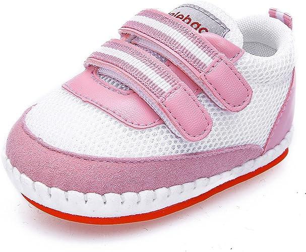 DELEBAO Chaussure pour Bébé Fille Maille Respirante Baskets