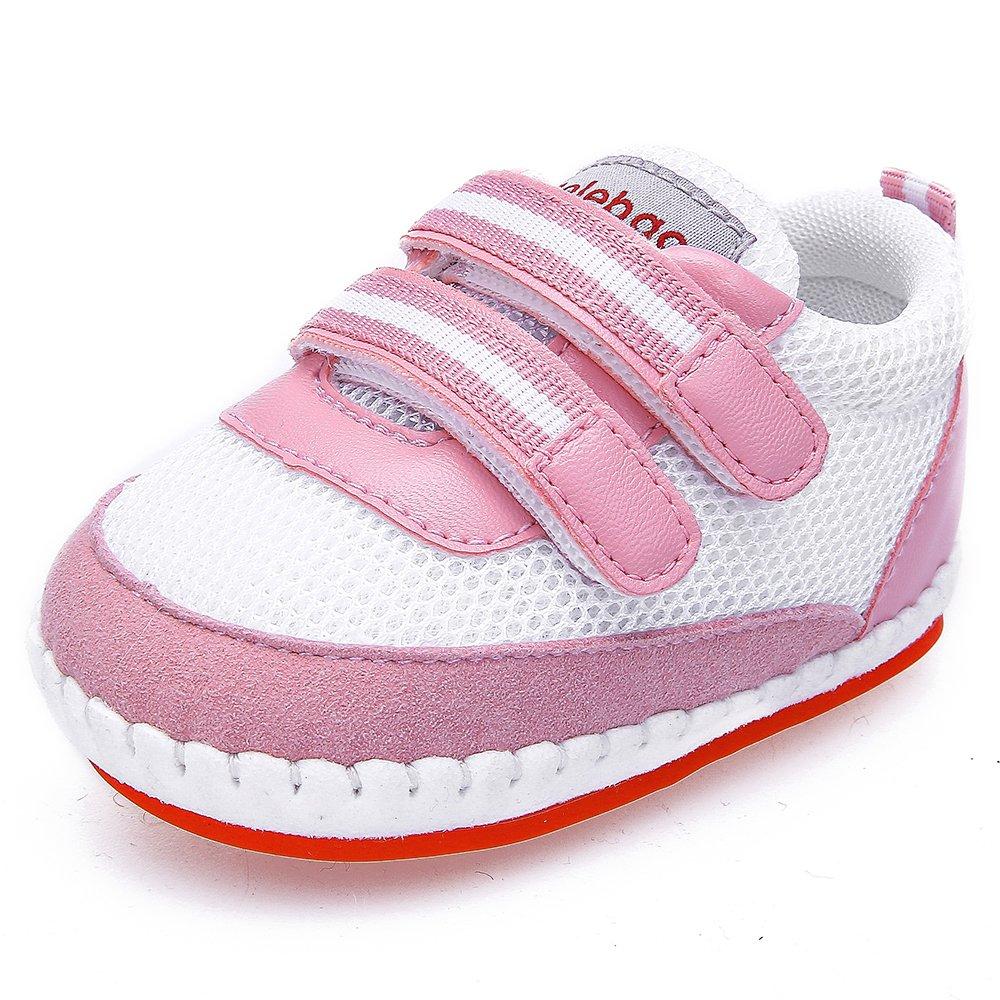 DELEBAO Zapatos Bebe Zapatillas de Deporte Bebe Malla Transpirable Calzado Primeros Pasos Zapatos para Bebe Niña Niño