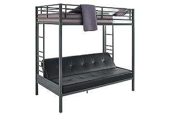 dhp jasper premium over futon bunk bed twin size   black amazon    dhp jasper premium over futon bunk bed twin size      rh   amazon
