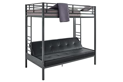 Amazon Com Dhp Jasper Premium Twin Over Futon Couch Bunk Bed With