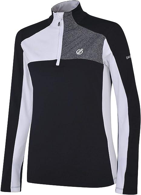 Dare 2b Womens Lowline Core Stretch Warm Backed Quick Drying Half Zip Ski /& Snowboard Active Fleece Layer Midlayer