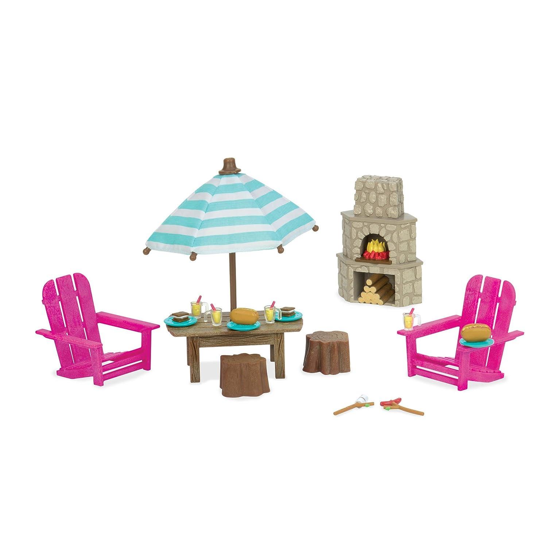 Li'l Woodzeez Patio Set and Outdoor Fireplace Set Li' l Woodzeez 6170Z