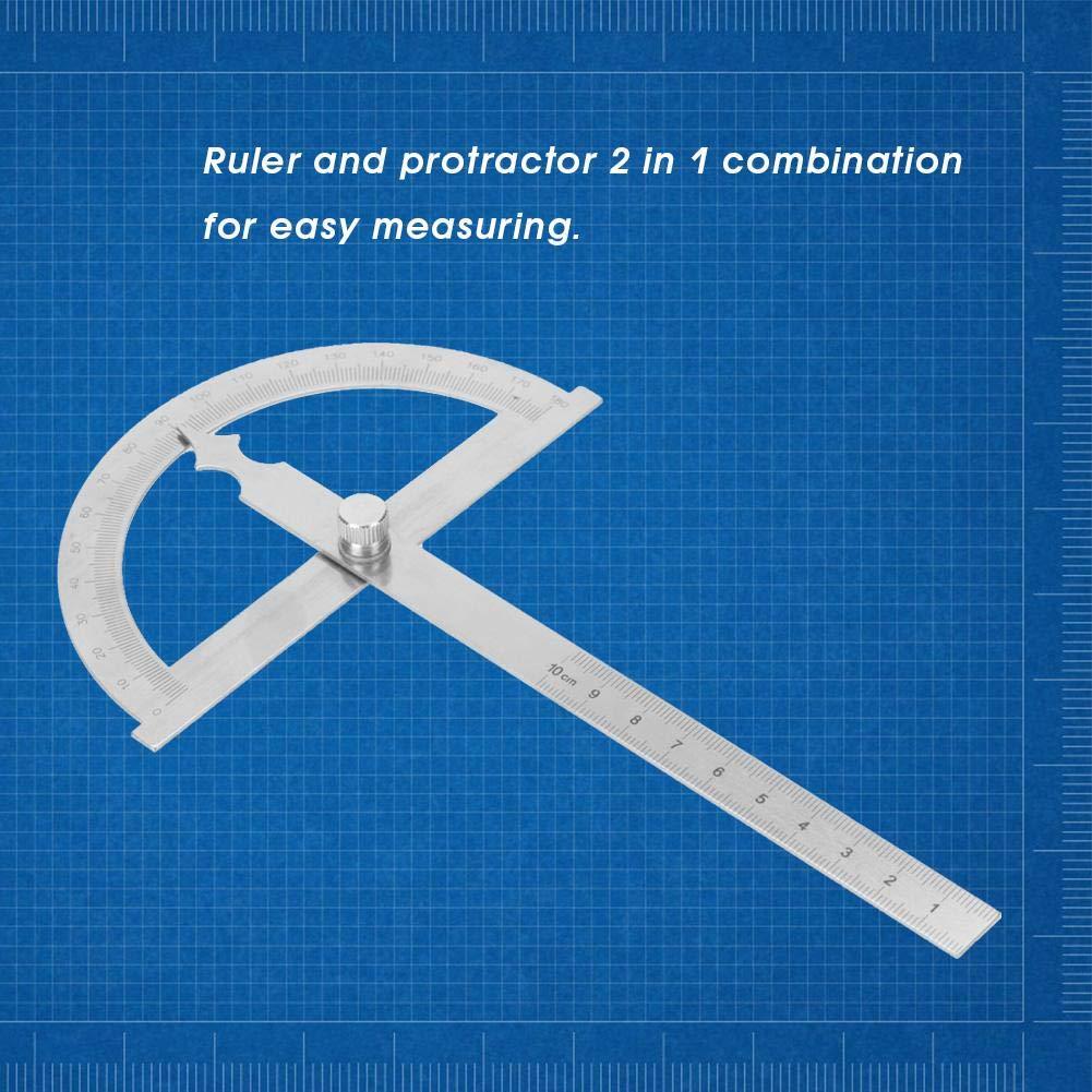 0-180 Grad 15 cm Digital Neigungsmesser Winkelmesser Goniometer Winkelsucher Messger/ät Lineal 150 * 200mm Edelstahl Winkelmesser