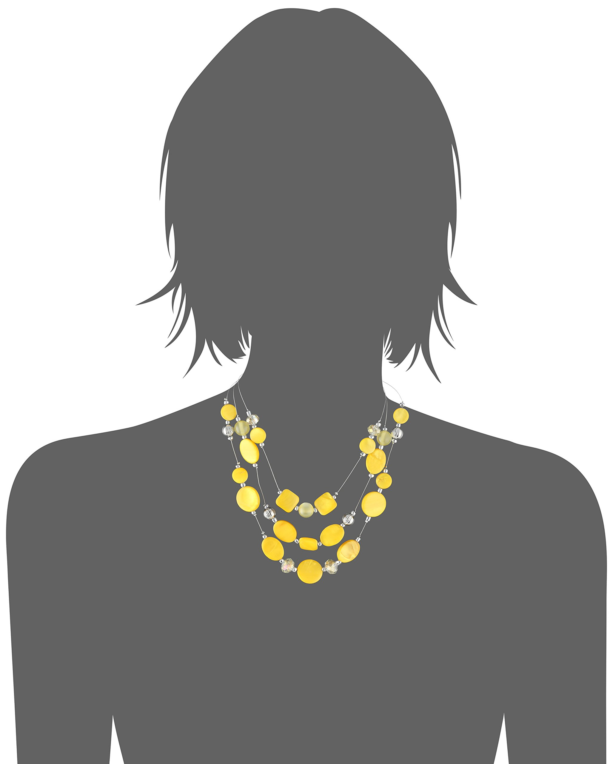 Womens Yellow Illusion Necklace, 18'' + 3'' Extender by Amazon Collection (Image #4)