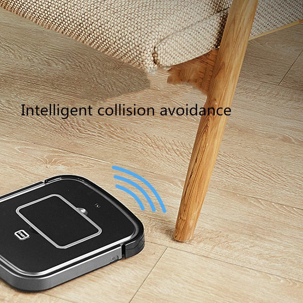 HL Robot Cleaner Intelligente Anti-collisione Anti-Caduta Grande aspirazione Muto, Adatto per la Moquette Piccola casa Pavimento-Grey White