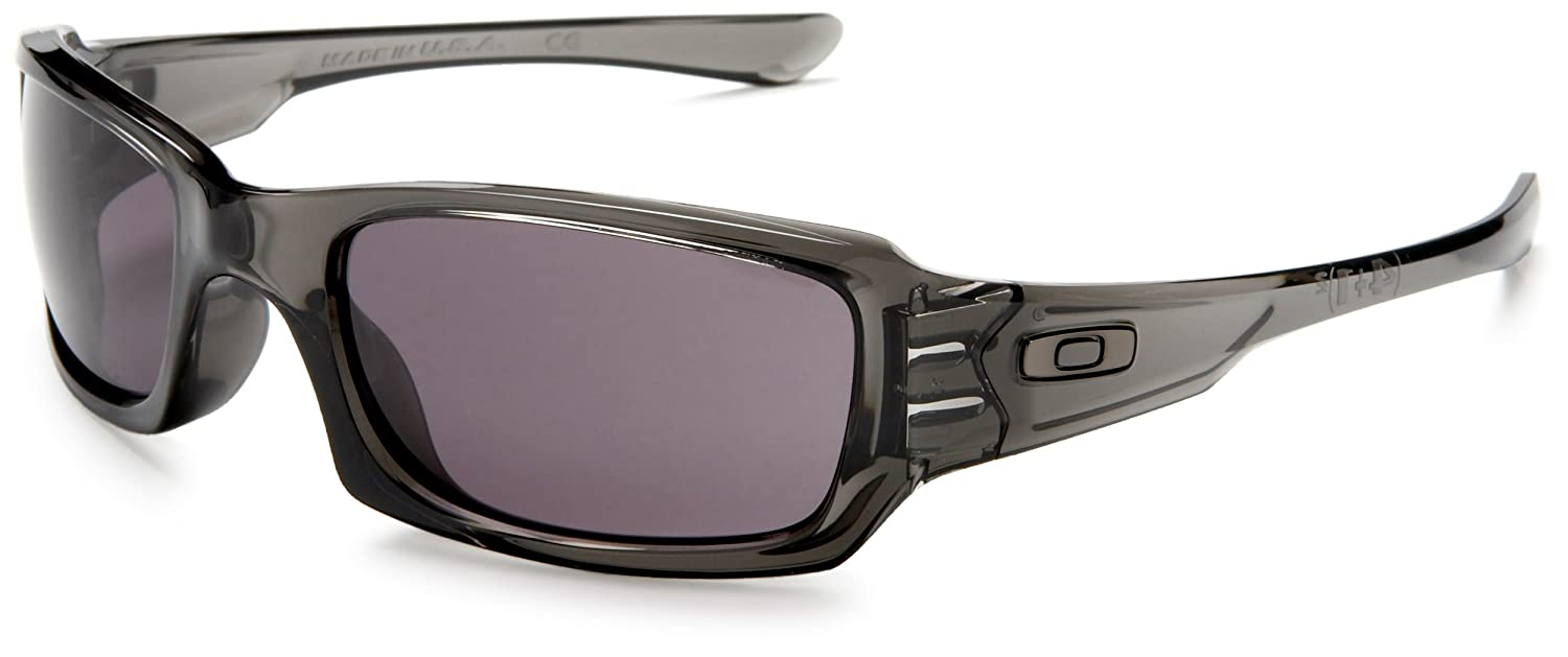 cfedab6f59 Amazon.com  Oakley Fives Squared Men s Lifestyle Sports Sunglasses Eyewear  - Grey Smoke Warm Grey One Size Fits All  Oakley  Clothing