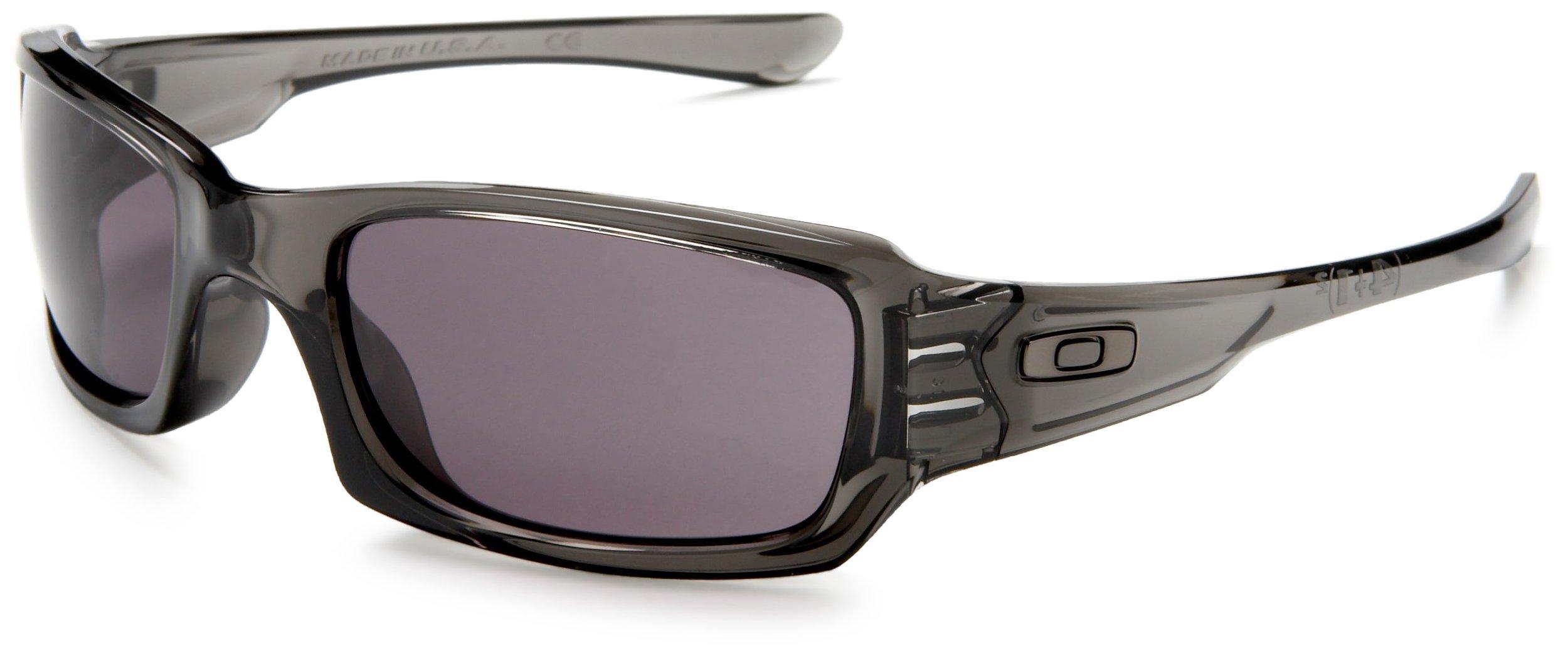 Oakley Men's Fives Squared Sunglasses,Grey Smoke Frame/Warm Grey Lens,one size by Oakley