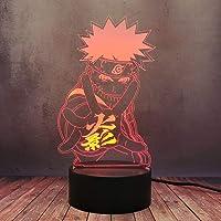 LED Stereo Anime Uzumki Naruto Figuur 3D Bureaulamp, voor Kids Slaapkamer Decor Cartoon Creatieve 16 Kleur Dimmen…